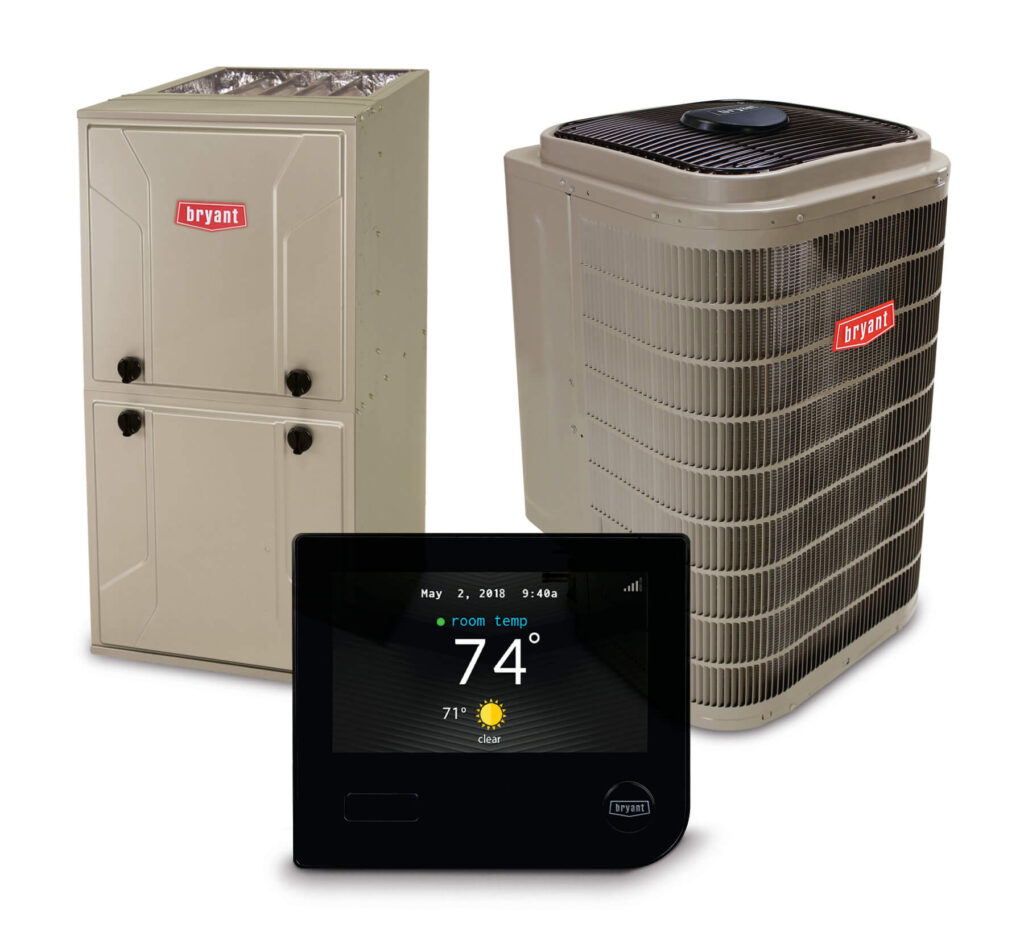 Bryant HVAC equipment with thermostat